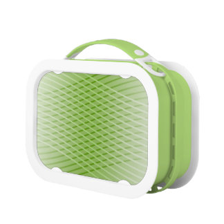 Modern Abstract Green Lines Yubo Lunchbox