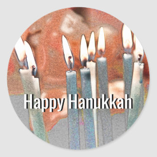 Modern Abstract Hanukkah Classic Round Sticker