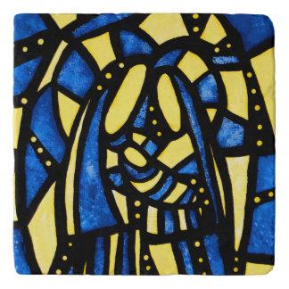 Modern Abstract Holy Family Trivet