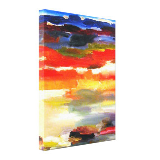 Modern Abstract Landscape Art Painting Canvas Print