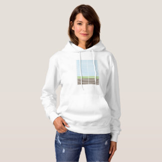Modern Abstract Landscape Hoodie Women's
