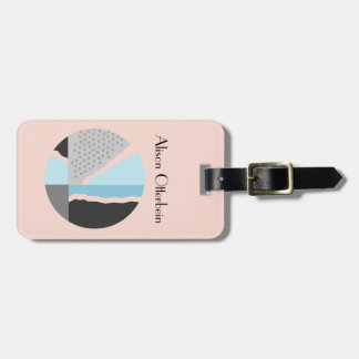 Modern Abstract Luggage Tag
