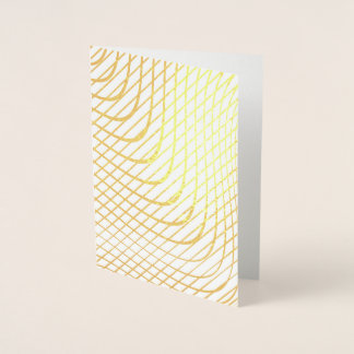 Modern Abstract Minimalist Gold Foil Card
