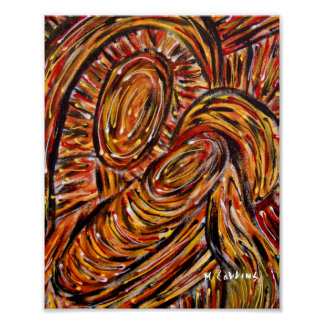 Modern Abstract Mother And Child Poster