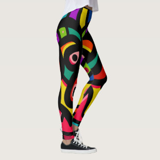 Modern Abstract Multi Color Leggings