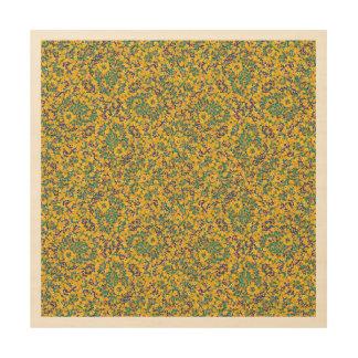 Modern Abstract Ornate Pattern Wood Print