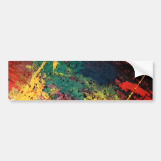 Modern Abstract Painting Bumper Sticker