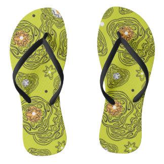 Modern abstract pattern Flip Flops. Thongs