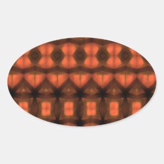 Modern abstract pattern oval sticker
