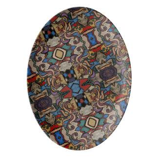 Modern Abstract Pattern Porcelain Serving Platter