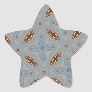 Modern abstract pattern star sticker