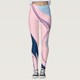Modern abstract pink-blue Custom Leggings