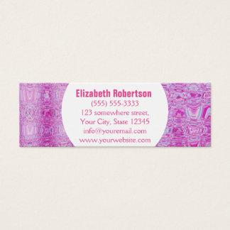 Modern Abstract Pink Mini Business Card
