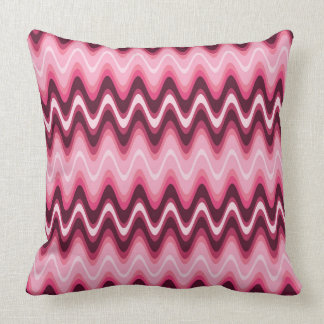Modern Abstract Pink Waves Cushion