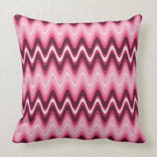 Modern Abstract Pink Waves Cushion