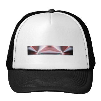 Modern Abstract Red Light Mesh Hats