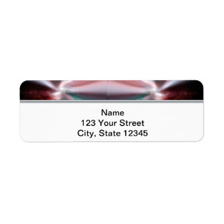Modern Abstract Red Light Return Address Label