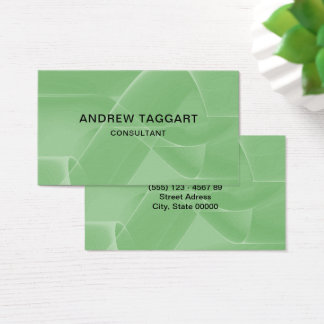 modern abstract shapes green business card
