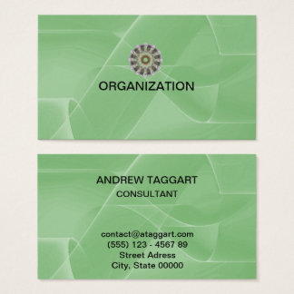 modern abstract shapes green Organization Business Card