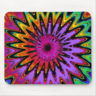 Modern abstract spiral mousepad