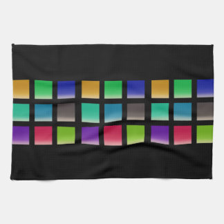 Modern Abstract Squares Pattern Tea Towel