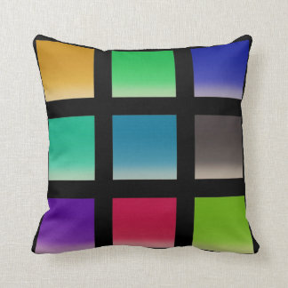 Modern Abstract Squares Pattern Throw Cushions