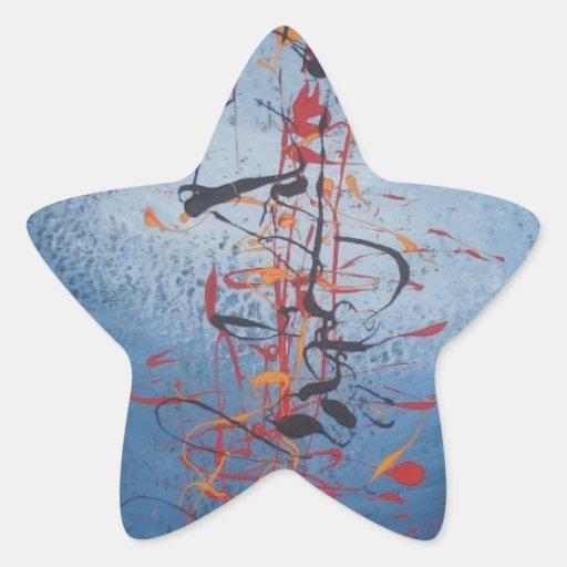 Modern Abstract Star Sticker