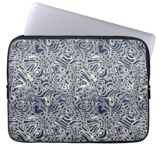 Modern Abstract Stripes Pattern Laptop Sleeve