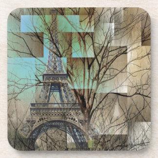 modern abstract tree landscape paris eiffel tower coasters