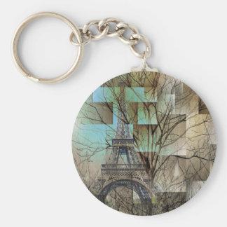 modern abstract tree landscape paris eiffel tower keychains