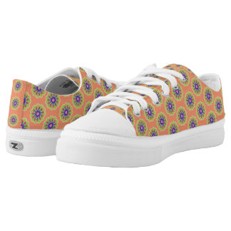 Modern abstract trendy pattern low tops