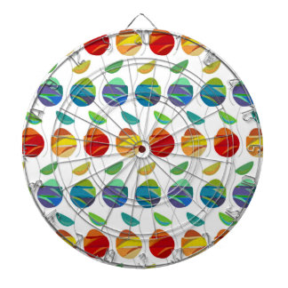 Modern abstract watercolor floral pattern dartboards