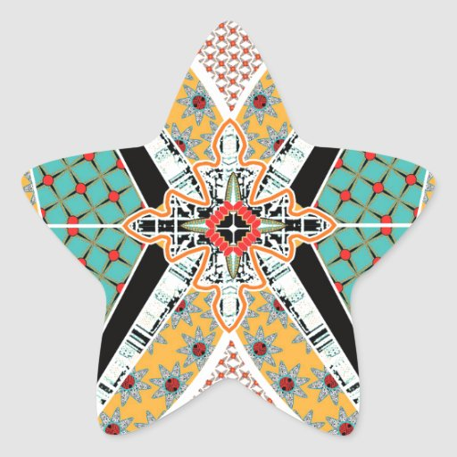 Modern Africa Centre Vibrant Pattern Sticker