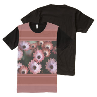 Modern African Daisy Design by Bubbleblue All-Over Print T-Shirt
