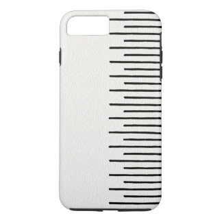 Modern African Tribal Lines White Leather Look iPhone 7 Plus Case