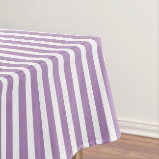 Modern African Violet Stripe Pattern Tablecloth