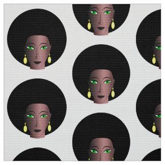 MODERN AFRO WOMAN DESIGN PATTERN FABRIC