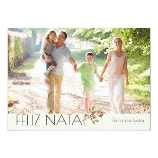 Modern Aguarela photo Happy Christmas Card