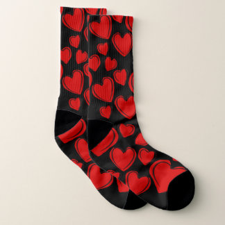 Modern All-Over Heart Print Socks