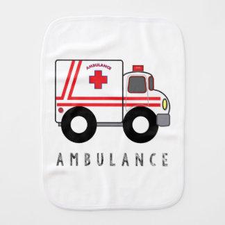Modern Ambulance Children's Design Burp Cloth