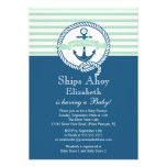 Modern Anchor Nautical Neutral Baby Shower Personalised Invite