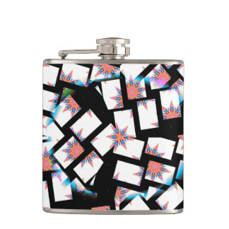 modern and abstract background hip flask
