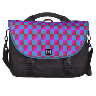 Modern and Bold Checker Pattern Bag For Laptop