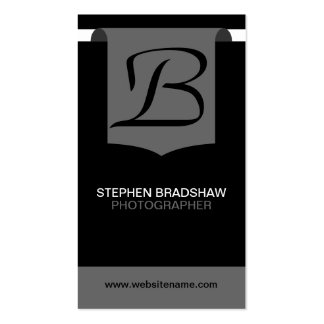 Modern and Bold Monogram Business Cards