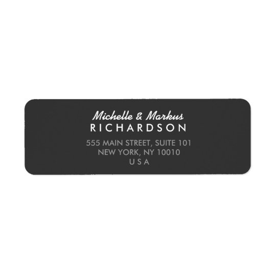 MODERN and CLASSIC Dark Grey Address Label