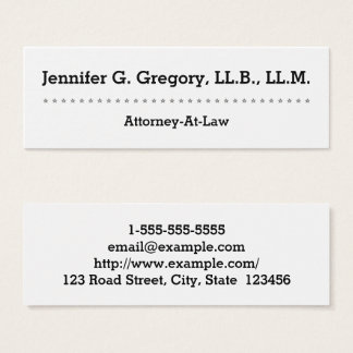 Modern and Clean Attorney-At-Law Business Card