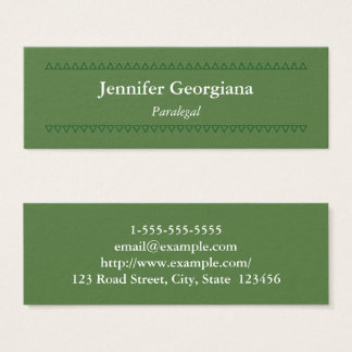 Modern and Clean Paralegal Business Card