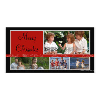 Modern and Elegant Christmas Photo Card