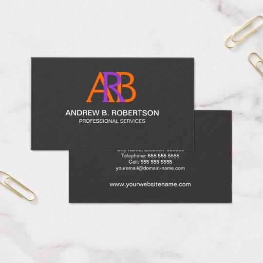Modern and Elegant Monogram Business Card