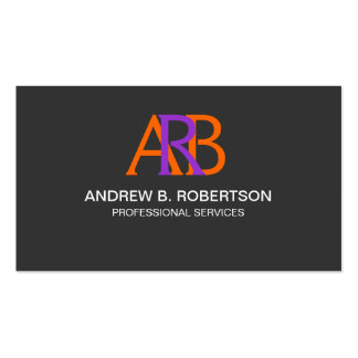 Modern and Elegant Monogram Business Cards